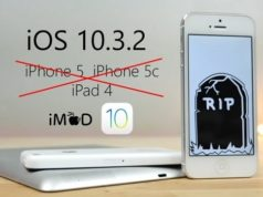 L'iOS 10.3.1 est l'ultime mise à jour des iPhone 5, iPhone 5C et iPad 4