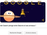 Google nous rappelle que la sonde Cassini plongera aujourd'hui entre Saturne et ses anneaux [#Doodle]
