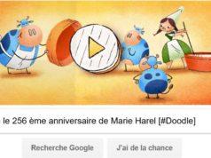 Google fête le 256 ème anniversaire de Marie Harel [#Doodle]