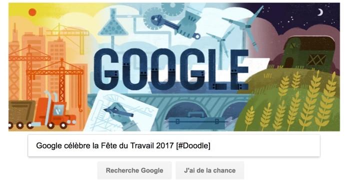 Google c l bre la f te du travail 2017 doodle - Fete du travail 2017 ...