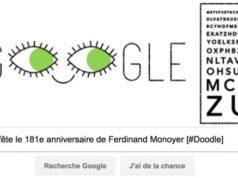 Google fête le 181e anniversaire de Ferdinand Monoyer [#Doodle]