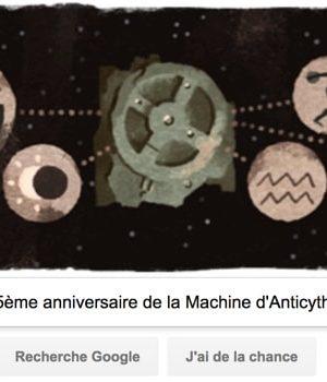 Google fête le 115ème anniversaire de la découverte de la Machine d'Anticythère [#Doodle]