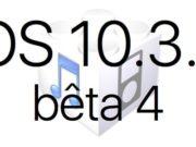 L'iOS 10.3.3 bêta 4 est disponible pour les développeurs