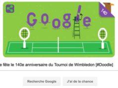 Google fête le 140e anniversaire du Tournoi de Wimbledon [#Doodle]