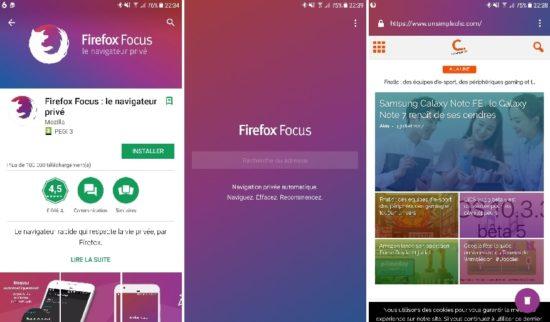 Firefox Focus : le navigateur qui protège votre vie privée