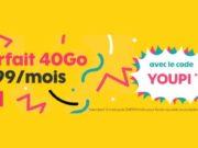 Sosh propose le forfait 40Go à 9,99€/mois