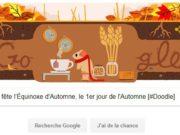 Google fête l'Équinoxe d'Automne, le 1er jour de l'Automne [#Doodle]