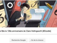 Google fête le 106e anniversaire de Clare Hollingworth [#Doodle]