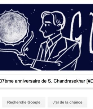 Google fête le 107ème anniversaire de S. Chandrasekhar [#Doodle]
