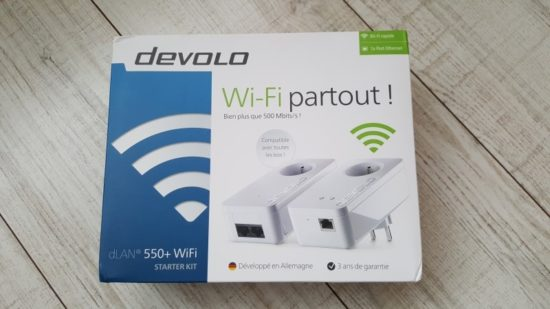 Test du devolo dLan 550+ WiFi Starter Kit