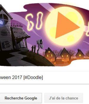 Google fête Halloween 2017 [#Doodle]