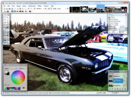 L'application de retouche Paint.net est dispo dans le Windows Store