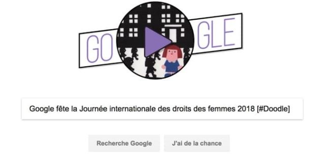 Google fête la Journée internationale des droits des femmes 2018 [#Doodle]