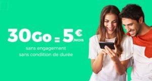 RED by SFR propose 30Go en 4G à 5€/mois sur ShowroomPrive.com