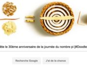 Google fête le 30ème anniversaire de la journée du nombre pi [#Doodle]
