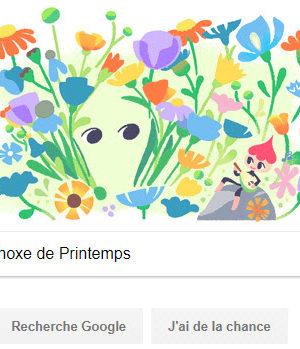 Google fête l'Équinoxe de Printemps [#Doodle]