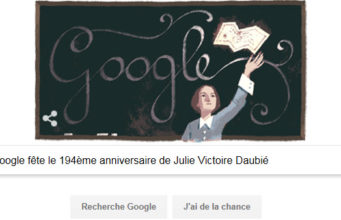 Google fête le 194ème anniversaire de Julie Victoire Daubié [#Doodle]