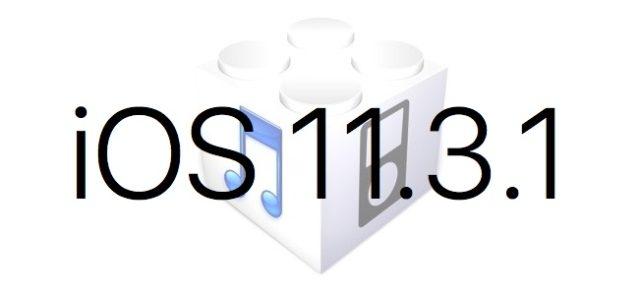 L'iOS 11.3.1 est disponible au téléchargement [liens directs]