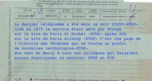 Orange a émis le dernier télégramme le 30 avril à 23h59