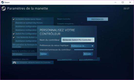 Comment ajouter la manette Switch Pro sur Steam ? [Tuto]