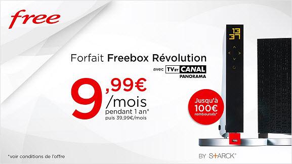 Le Forfait Freebox Révolution avec TV by CANAL est à 9,99€/mois sur Vente-Privee.com