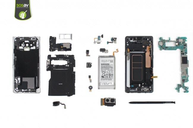 Le Galaxy Note 9 se fait démonter par SOSav_fr