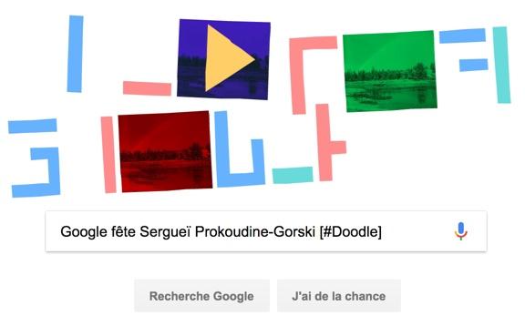 Google fête le 155ème anniversaire de Sergueï Prokoudine-Gorski [#Doodle]