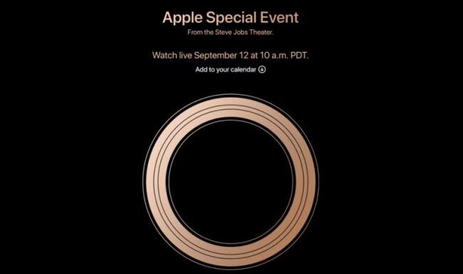 Apple officialise la keynote du 12 septembre 2018 prochain