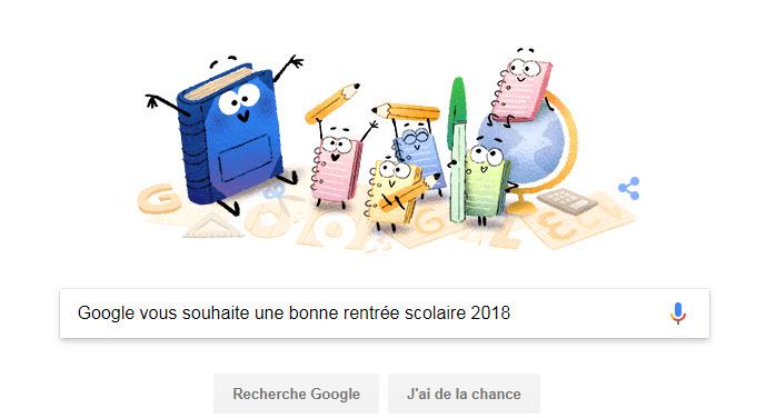 Google vous souhaite une bonne rentrée scolaire 2018