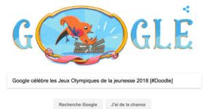 Google célèbre les Jeux Olympiques de la jeunesse 2018 [#Doodle]