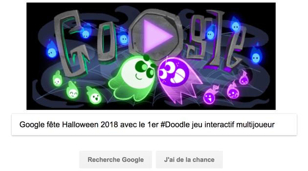 Google fête Halloween 2018 avec le 1er #Doodle jeu interactif multijoueur
