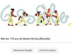 Google fête les 119 ans de Mestre Bimba [#Doodle]
