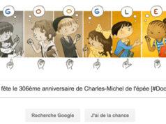 Google fête le 306ème anniversaire de Charles-Michel de l'épée [#Doodle]