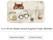 Google : il y a 132 ans naissait Léonard Tsuguharu Foujita [#Doodle]