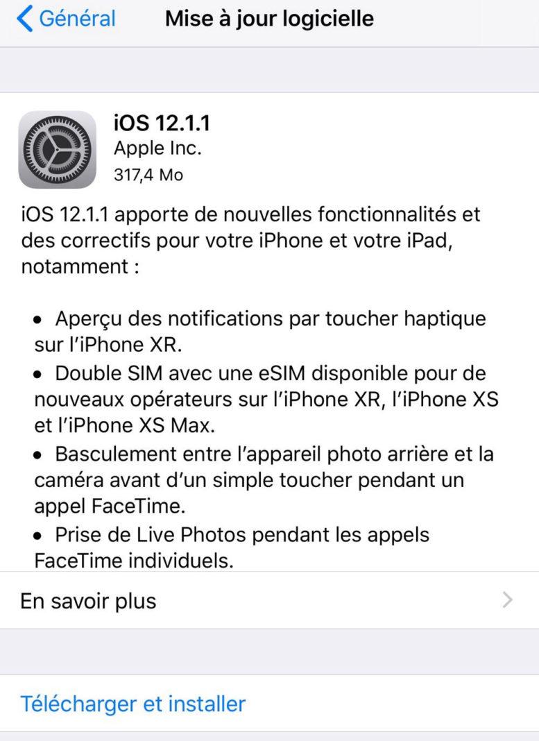 IOS 12.0.1 TÉLÉCHARGER GRATUITEMENT JOUR A MISE