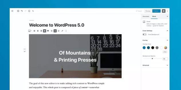 "WordPress 5 ""Bebo"" est disponible"