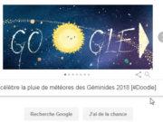 Google célèbre la pluie de météores des Géminides 2018 [#Doodle]