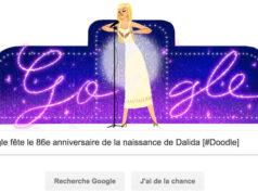 Google fête le 86e anniversaire de la naissance de Dalida [#Doodle]