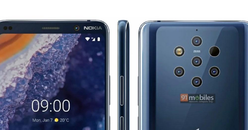 Les rendus presse du Nokia 9 Pureview circulent sur le net