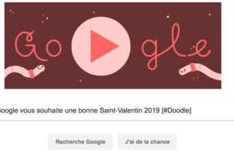 Google vous souhaite une bonne Saint-Valentin 2019 [#Doodle]