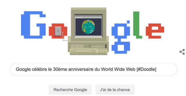 Google célèbre le 30ème anniversaire du World Wide Web [#Doodle]
