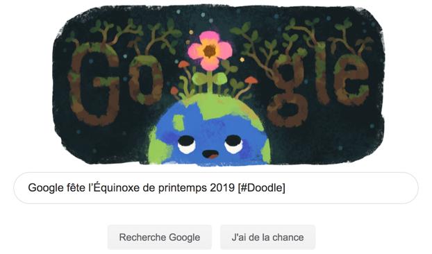 Google fête l'Équinoxe de printemps 2019 [#Doodle]