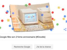 Google fête son 21ème anniversaire [#Doodle]