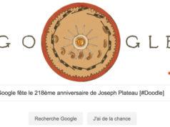 Google fête le 218ème anniversaire de Joseph Plateau [#Doodle]