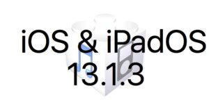 L'iOS 13.1.3 et l'iPadOS 13.1.3 sont disponibles au téléchargement [liens directs]