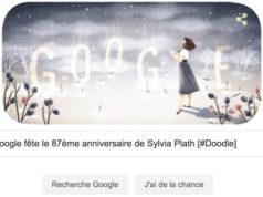 Google fête le 87ème anniversaire de Sylvia Plath [#Doodle]
