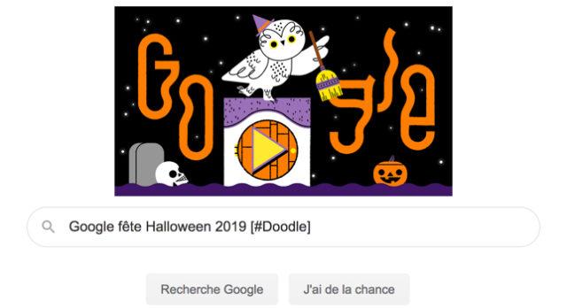 Google fête Halloween 2019