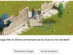 Google fête le 30ème anniversaire de la chute du mur de Berlin [#Doodle]