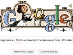 Google fête le 177ème anniversaire de Madeleine Brès [#Doodle]