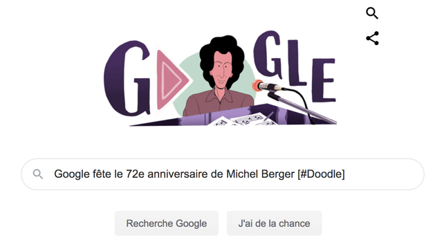 Google fête le 72e anniversaire de Michel Berger